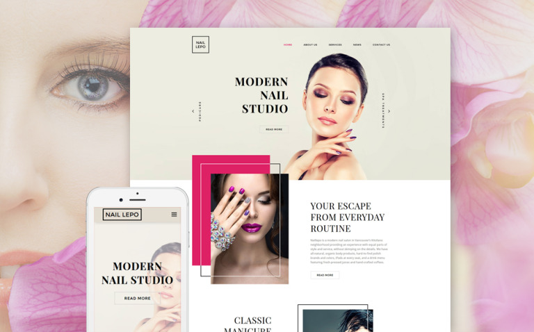 Nail Lepo Website Template New Screenshots BIG