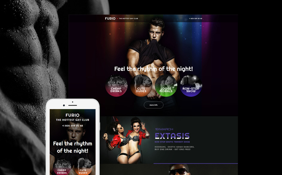 Night Club Responsive Landing Page Template New Screenshots BIG