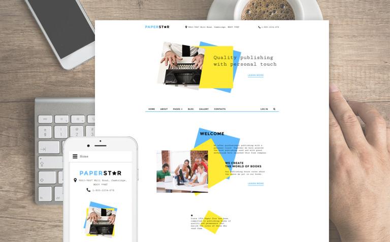 Paper Star Joomla Template New Screenshots BIG