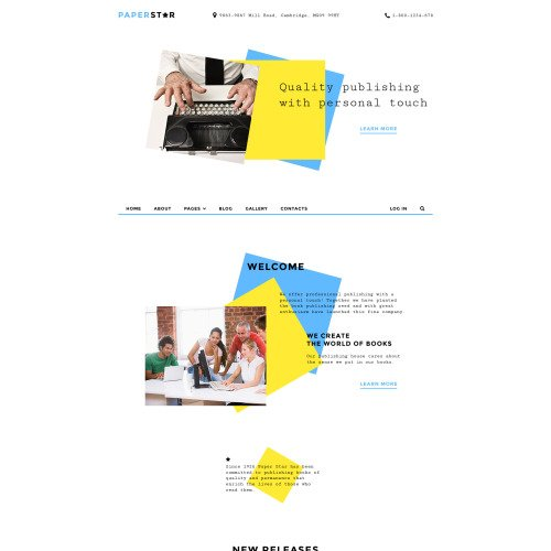 Paper Star - Joomla! Template based on Bootstrap