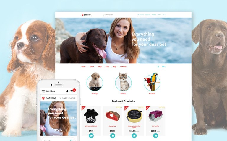 PetShop OpenCart Template New Screenshots BIG