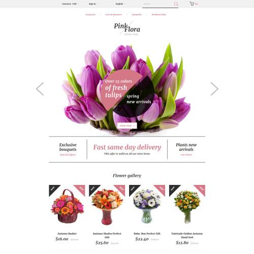 Pink Flora - Responsive PrestaShop Template