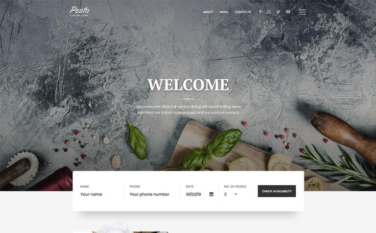 Plantilla Web #58360 para Sitio de Cafeterías y Restaurantes