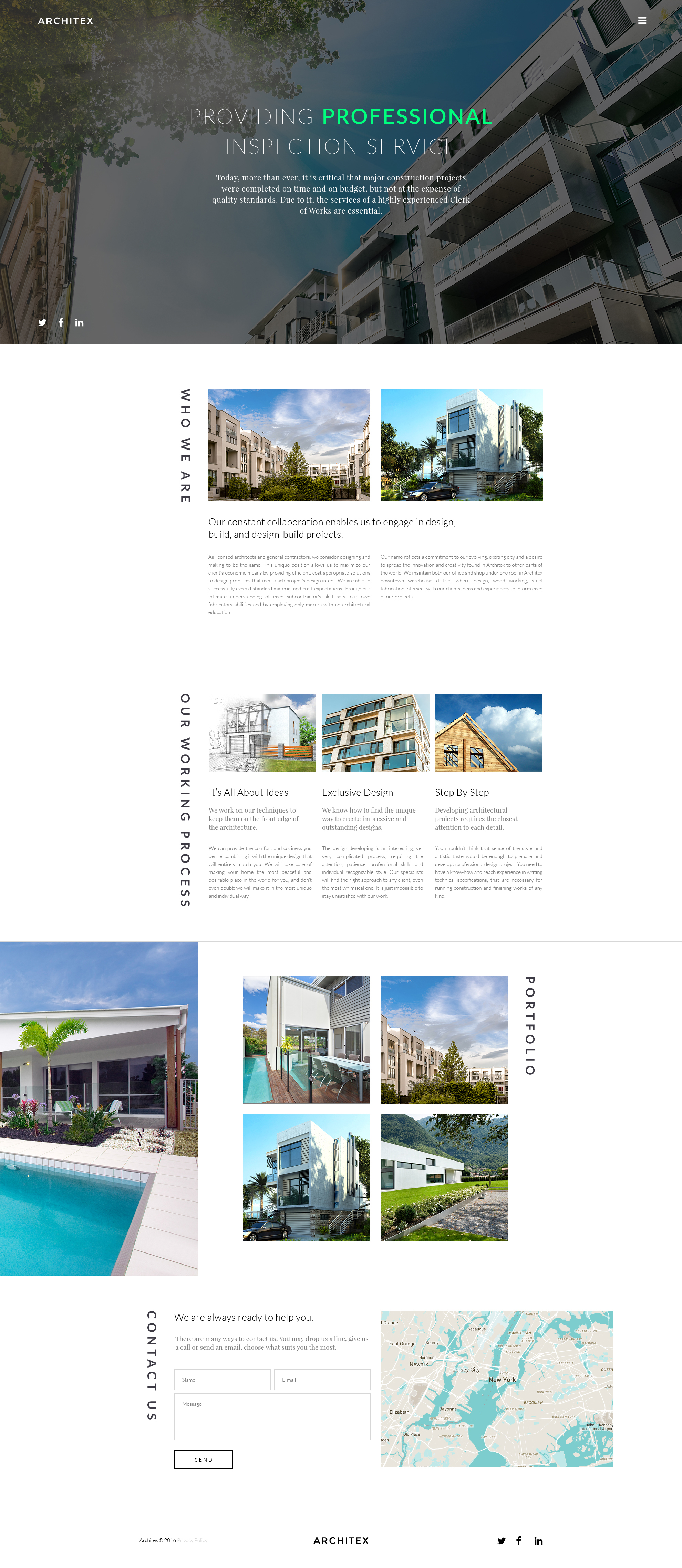 Plantilla Web Responsive para Sitio de Arquitectura #58371 - captura de pantalla