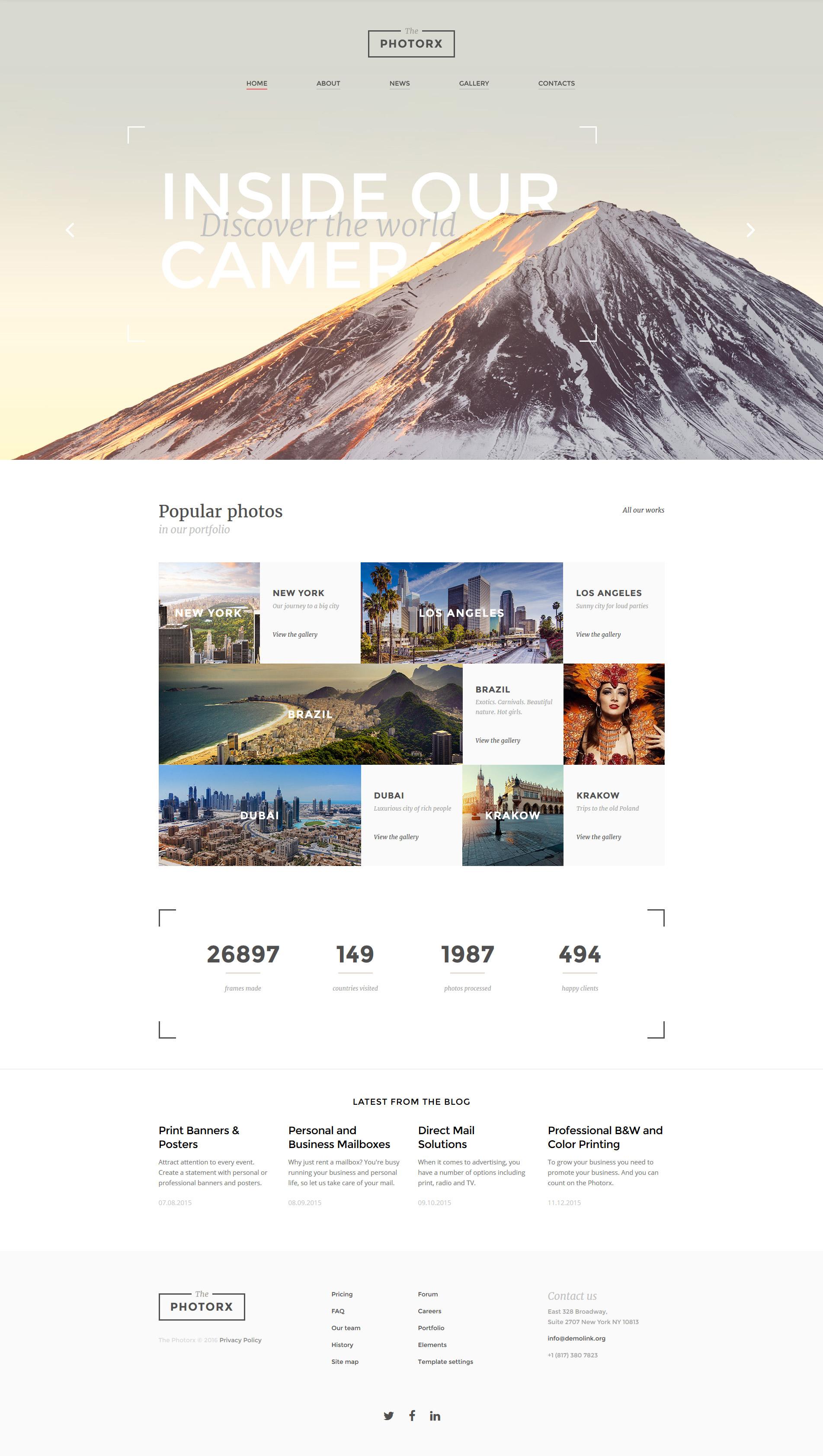 Plantilla Web Responsive para Sitio de Estudios fotográficos #58398