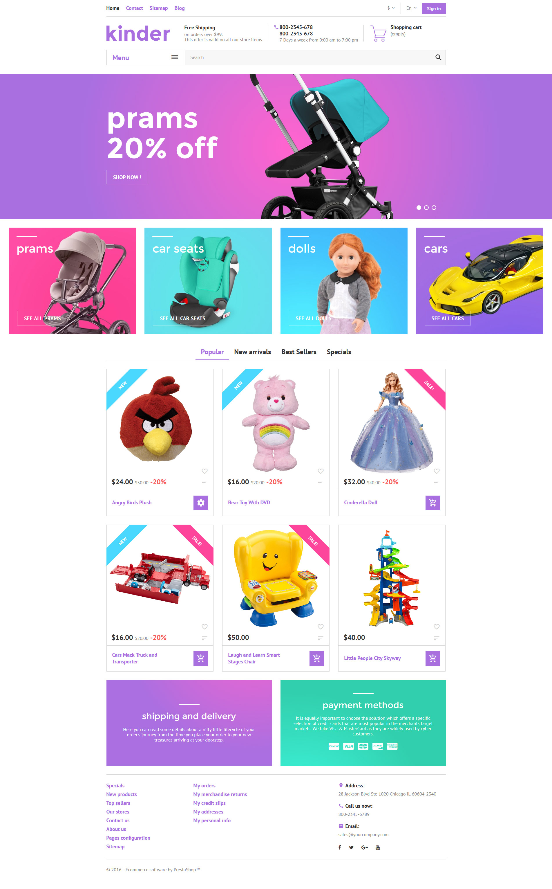 "PrestaShop Theme namens ""Kinder"" #58384"