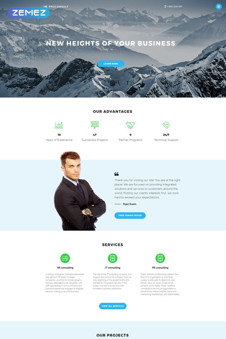 Proconsult Joomla Template New Screenshots BIG