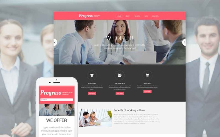 Progress Drupal Template New Screenshots BIG