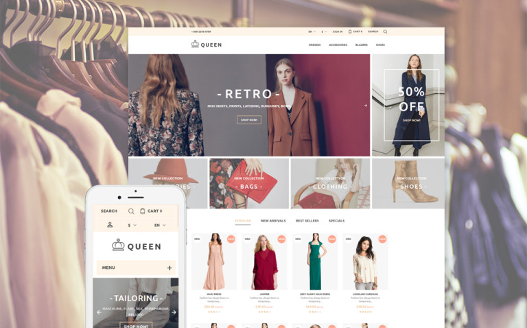 Queen - Womens Clothes PrestaShop Theme New Screenshots BIG