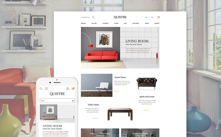 Quistre - Interior PrestaShop Theme New Screenshots BIG