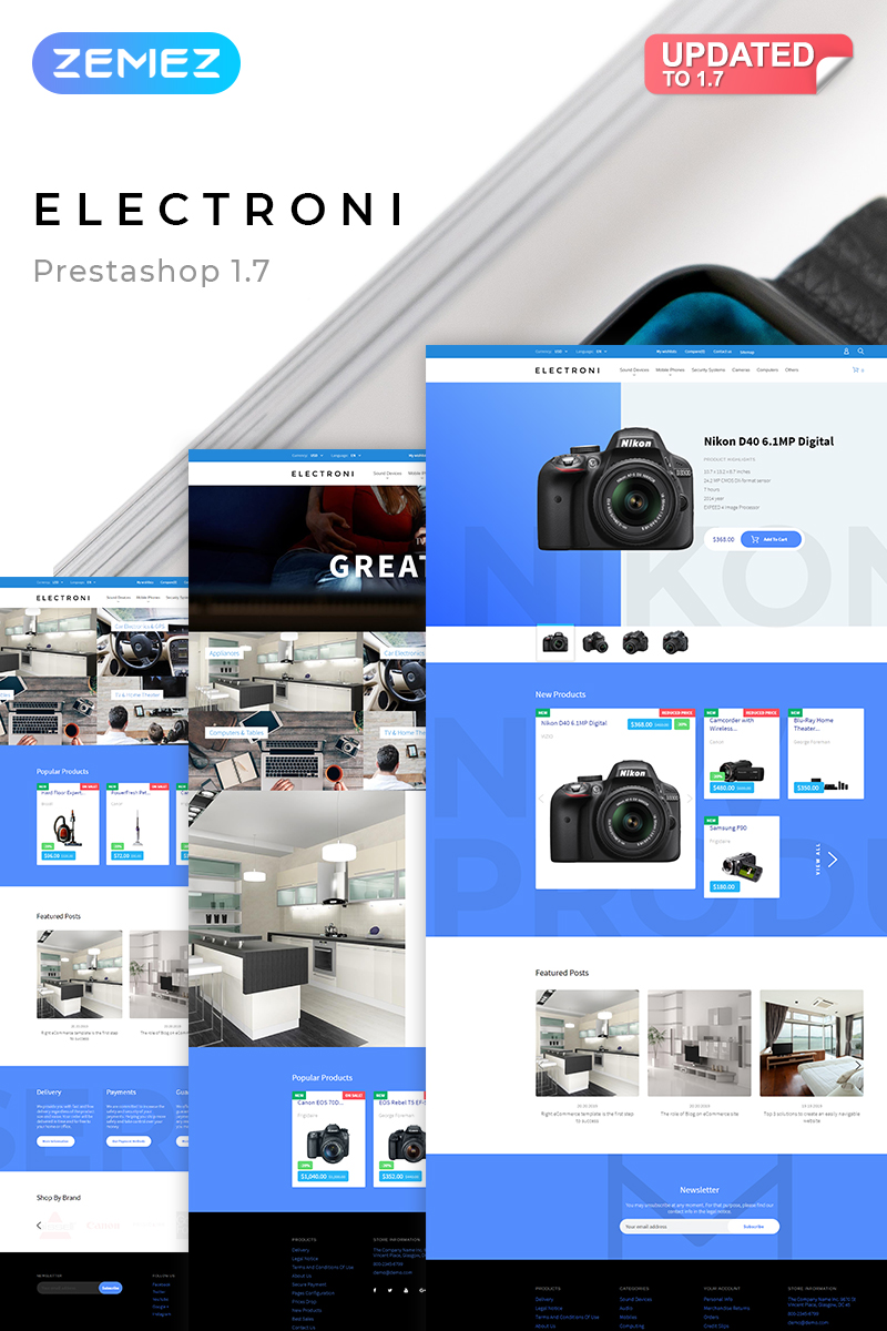 Responsive Electroni - Electronic Devices Prestashop #58386