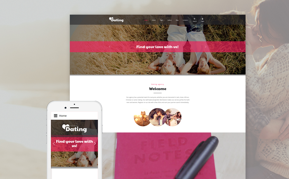 html5 dating templates