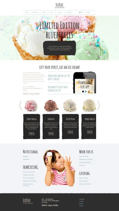 Ice Cream Responsive Joomla Template