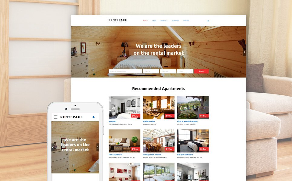 Website Vorlage #58356 für Immobilien