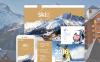Responsive Website Vorlage für Skilauf  New Screenshots BIG
