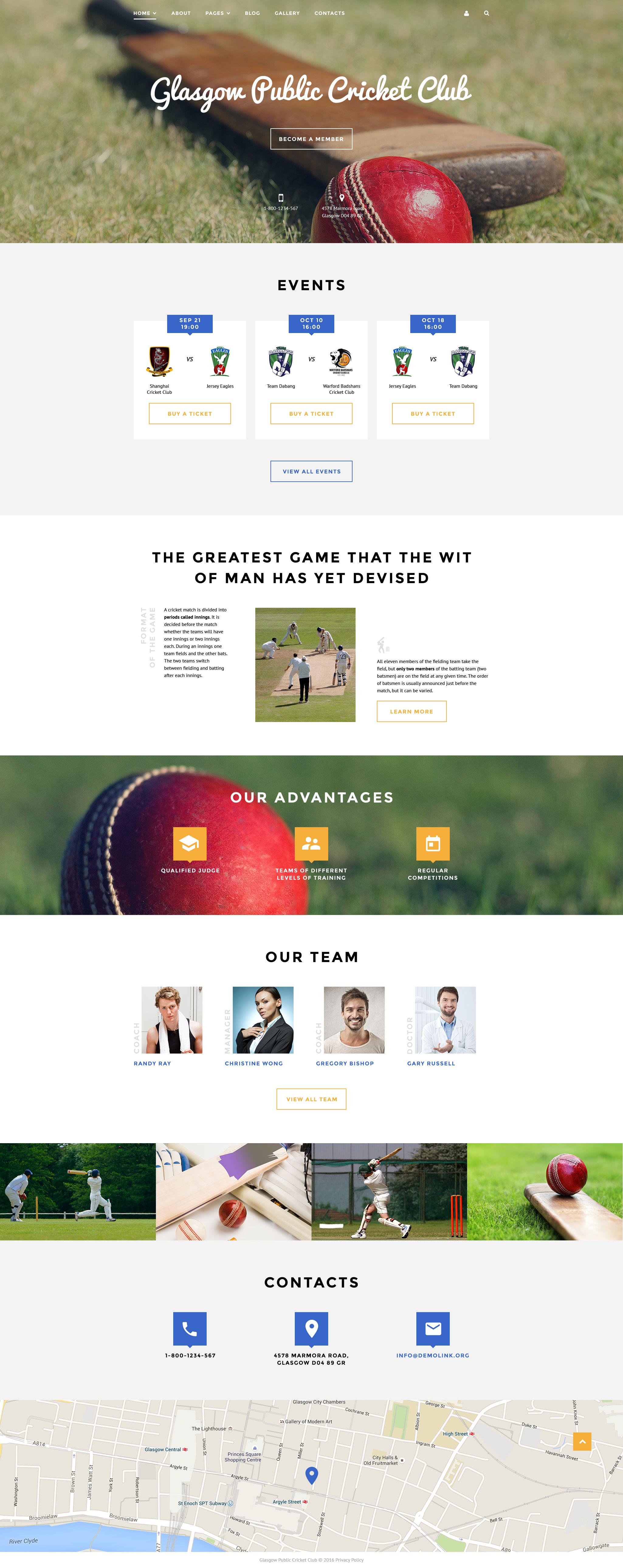 Responsywny szablon Joomla Cricket Club #58317