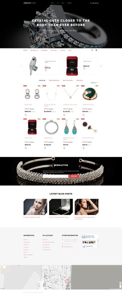 Responsywny szablon PrestaShop #58335 na temat: biżuteria
