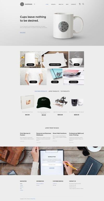 Responsywny szablon VirtueMart #58305 na temat: sklep z koszulkami