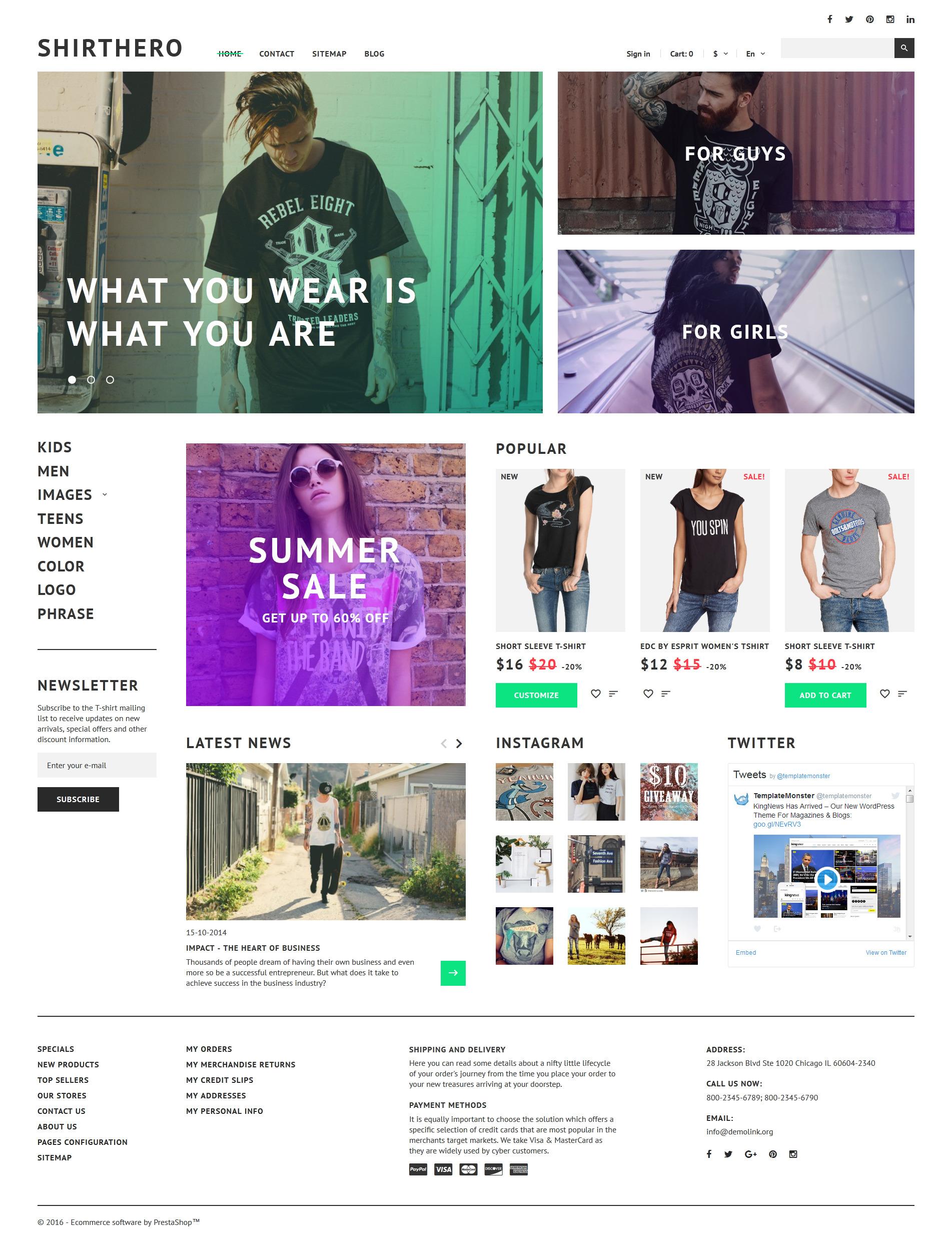 ShirtHero - магазин футболок №58380 - скриншот