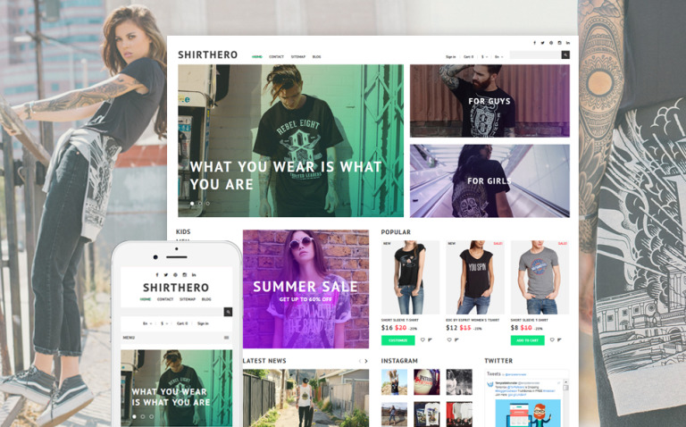 ShirtHero - T-shirt PrestaShop Theme New Screenshots BIG