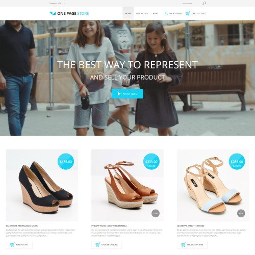One Page Store - Shopify Template based on Bootstrap