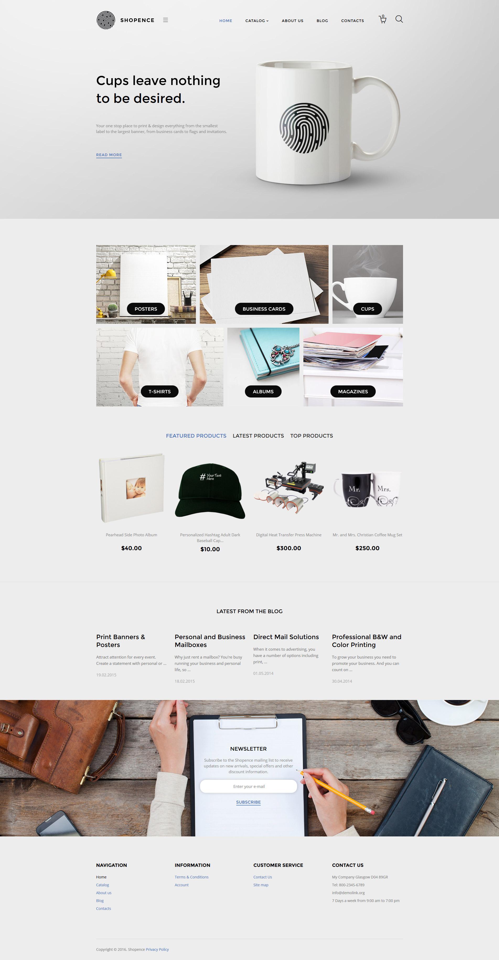 """""""Shopence"""" - VirtueMart шаблон №58305"""