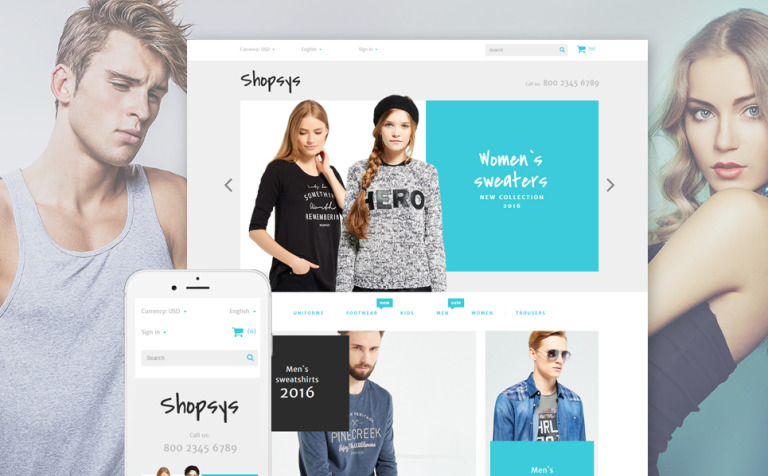 Shopsys - Trendy Clothes PrestaShop Theme