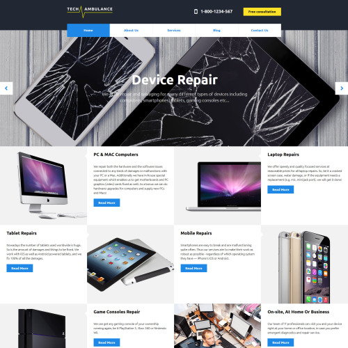 Tech Ambulance - Responsive Website Template