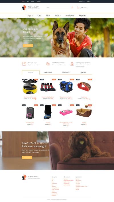 Responsive Tema De PrestaShop #58340 para Sitio de  para Sitio de Animales y Mascotas