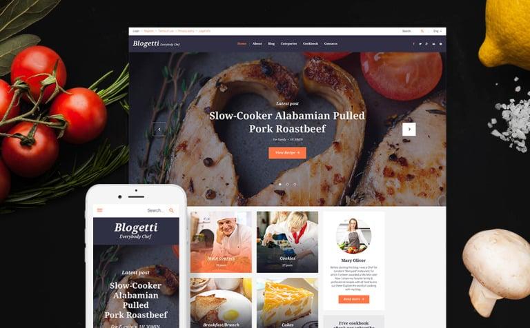 Tema de WordPress #58395 para Sitio de Cocina