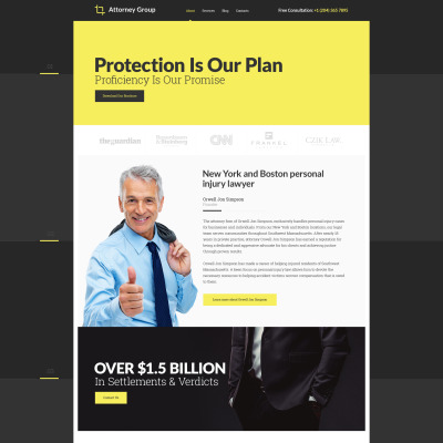 Law Firm Responsive Template Siti Web