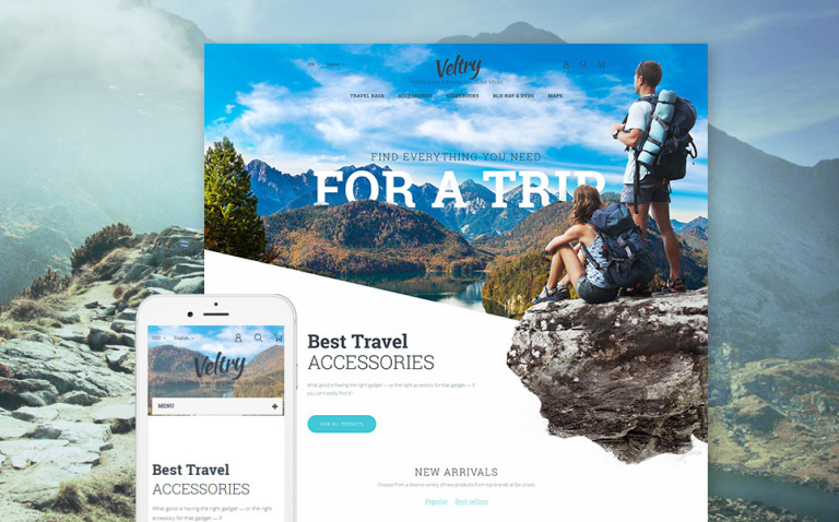 Veltry - Travel Store PrestaShop Theme New Screenshots BIG