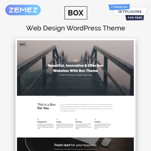Box - WordPress Template based on Bootstrap