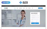 "Website Vorlage namens ""Alpha Health - Beratung"""