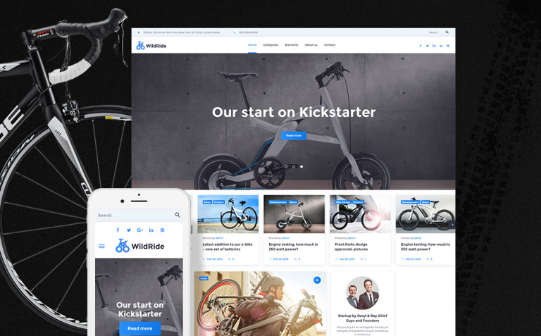 WildRide - Sports Bicycle WordPress Theme New Screenshots BIG
