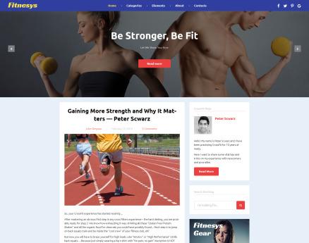 Fitnesys - Fitness & Gym Blog WordPress Theme