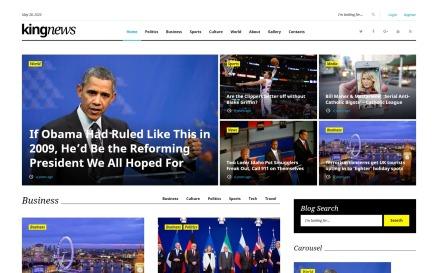 KingNews - Magazine News Portal & Blog WordPress Theme
