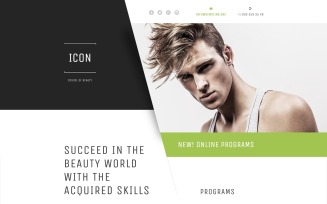 Beauty School Responsive Landing Page Template