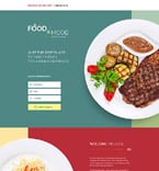 Cafe & Restaurant Landing Page  Template 58407