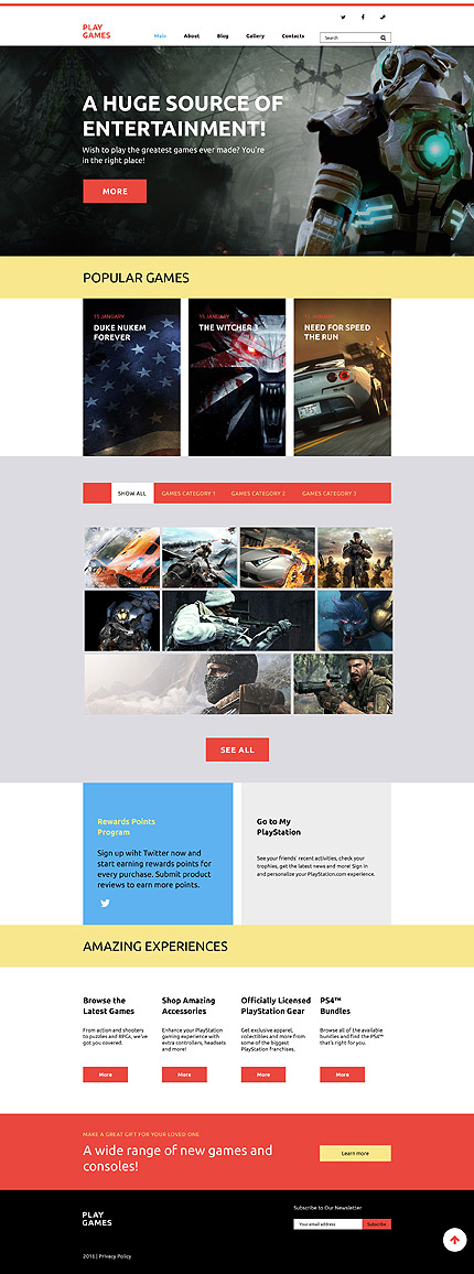 WordPress Theme/Template 58412 Main Page Screenshot