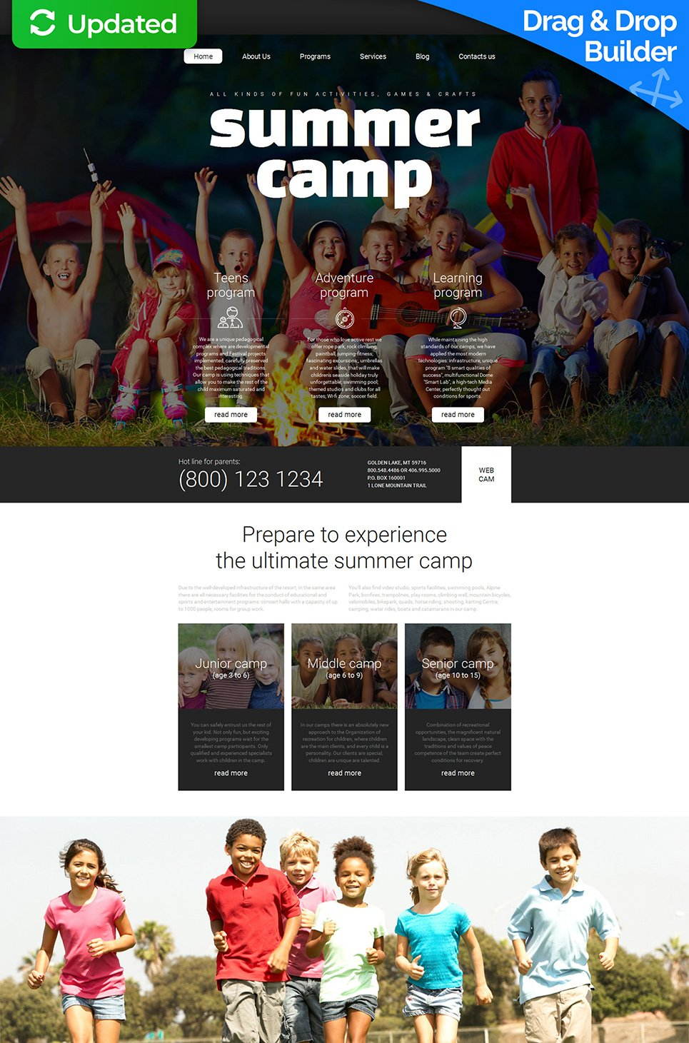 Responsive site for adventure tours