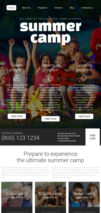 ADOBE Photoshop Template 58416 Home Page Screenshot