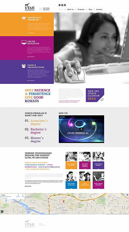 ADOBE Photoshop Template 58417 Home Page Screenshot