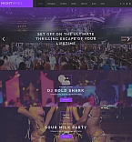 Night Club Moto CMS 3  Template 58425