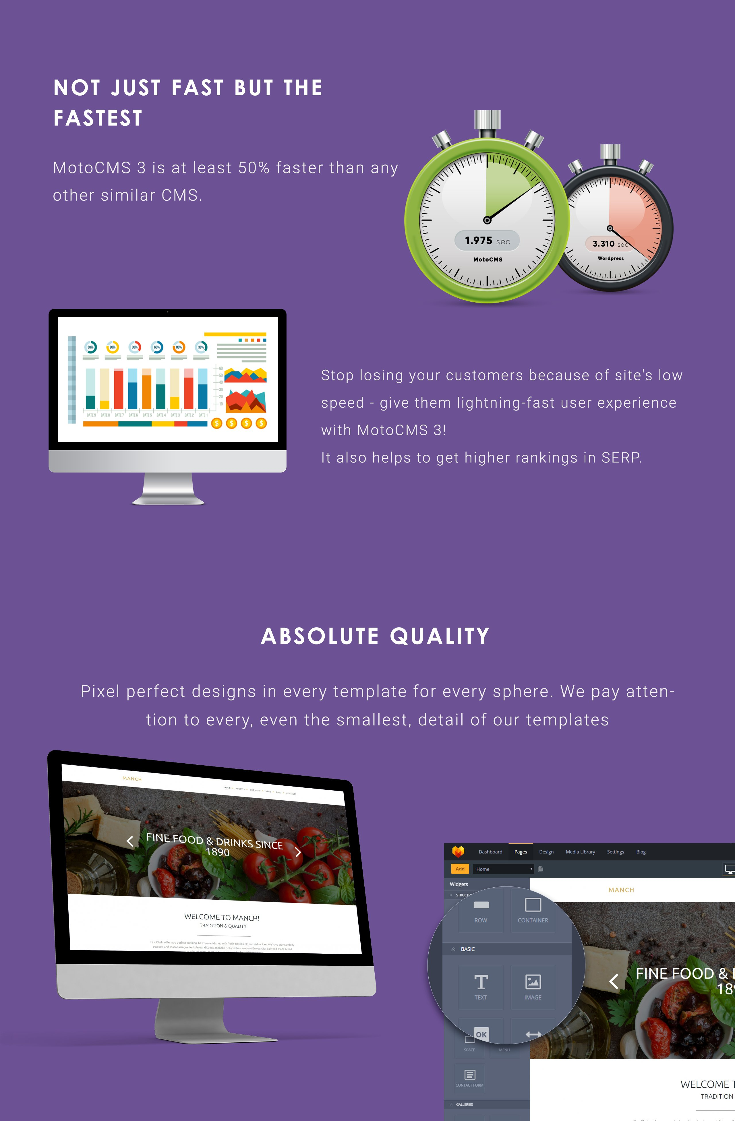 Cafe and Restaurant Moto CMS 3 Template