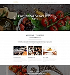 Cafe & Restaurant Moto CMS 3  Template 58431