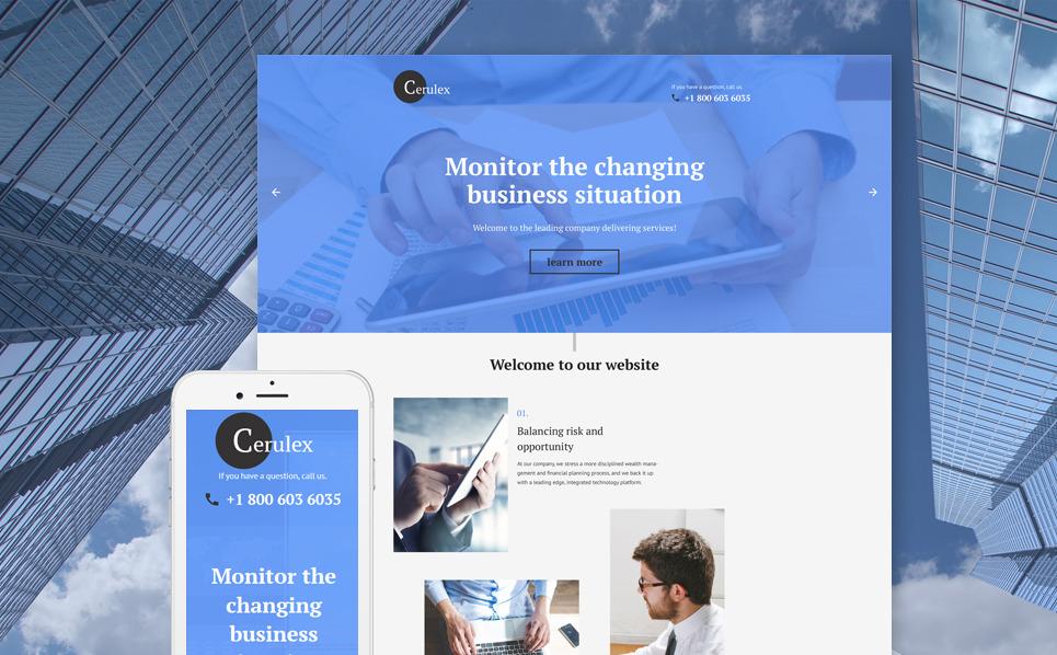 Responzivní Šablona mikrostránek na téma Byznys a služby New Screenshots BIG