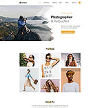 Art & Photography Website  Template 58439