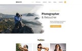 """Davis - Photographer Portfolio Multipage HTML5"" 响应式网页模板"