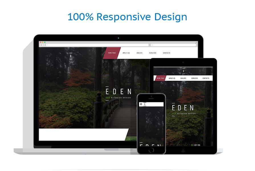 Exterior design website template 58440 for Exterior design templates